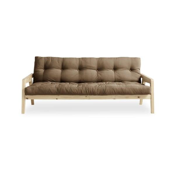 Variabilná rozkladacia pohovka s futónom v kávovohnedej farbe Karup Design Grab Natural/Mocca