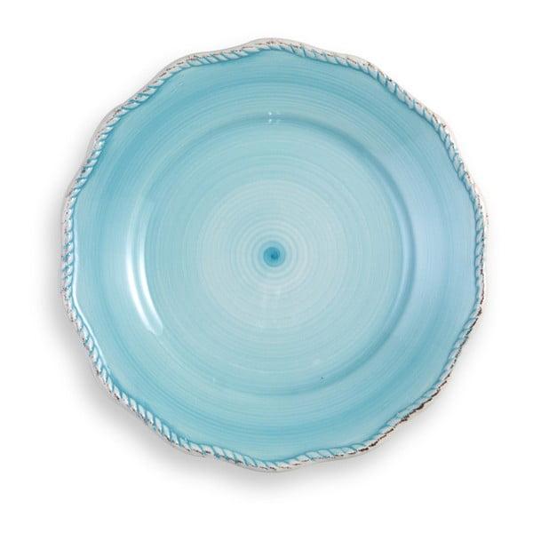 Veľký tyrkysový tanier Brandani