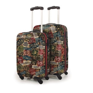 Sada 2 kufrov Lois, čierna