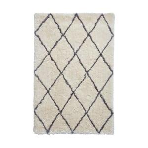 Béžovo-sivý ručne tuftovaný koberec Think Rugs Morocco Ivory & Grey, 200×290 cm