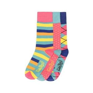 Sada 3 párov farebných ponožiek Funky Steps Circus, veľ. 35-39