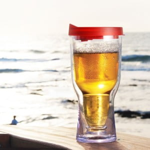 Nezničitelný pohár na pivo Brew2Go, červená