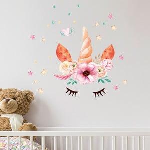 Nástenné detské samolepky Ambiance Watercolor Unicorn