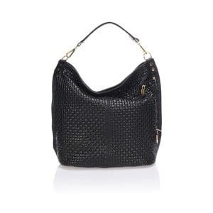 Čierna kožená kabelka Giorgio Costa Parma
