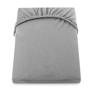 Sivá elastická plachta DecoKing Nephrite, 220–220cm