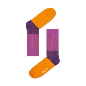 Ponožky Happy Socks Purple and Orange, veľ. 36-40