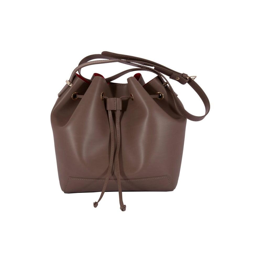 Tmavohnedá kabelka z pravej kože Andrea Cardone Jemma cb804fba890
