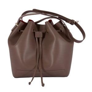 Tmavohnedá kabelka z pravej kože Andrea Cardone Jemma