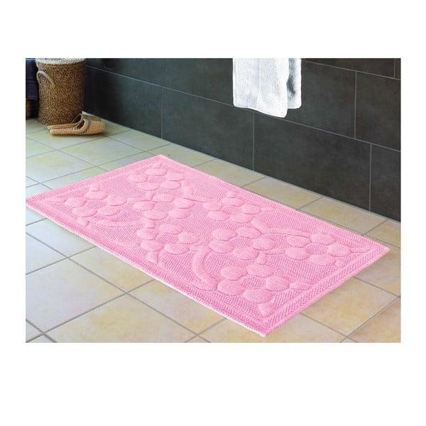 Predložka do kúpeľne Papatya Pink, 60x100 cm
