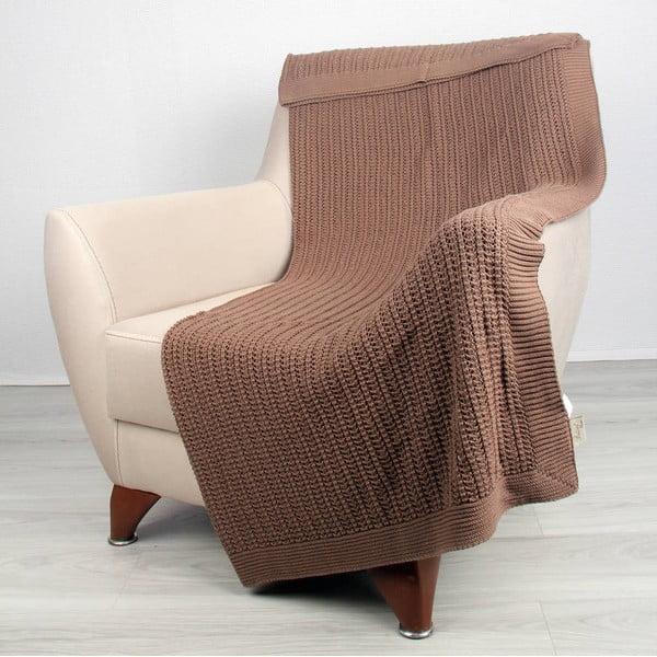 Hnedá bavlnená deka Carla