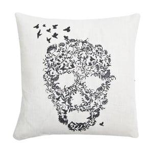 Vankúš Skull Basic White, 45x45 cm