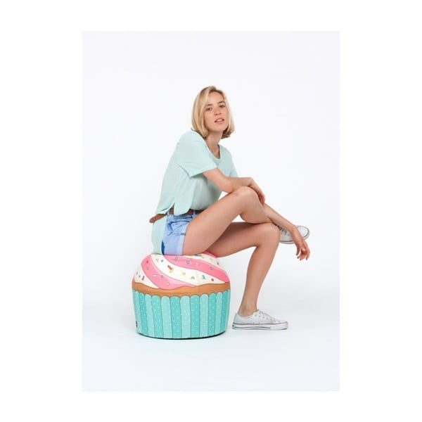 Puf v tvare koláčika Cupcake Blue