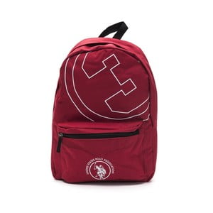 Červený pánsky batoh U.S. Polo New Yorker, 30 × 44 cm