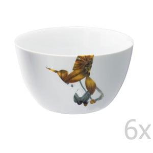 Sada 6 porcelánových misiek Flutter, 14 cm