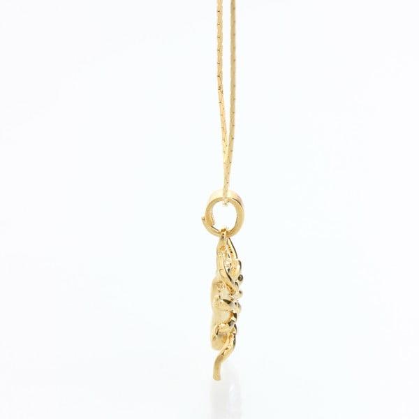Náhrdelník so Swarovski Elements, zlatý pavúk