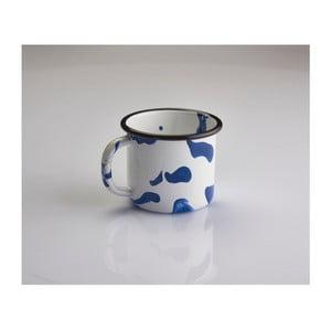 Modro-biely smaltovaný hrnček Kapka Little Color, 350 ml