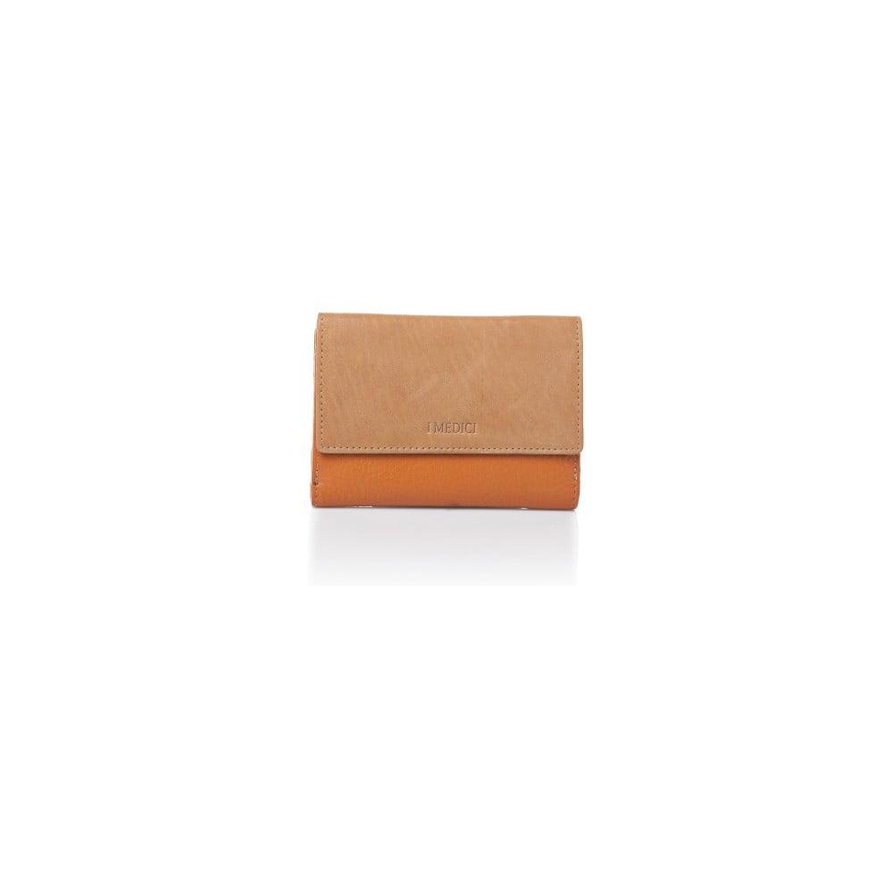913a19375d Oranžovo-béžová kožená dámska peňaženka Medici of Florence Sisto ...