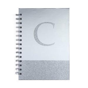 Zápisník Tri-Coastal Design Monogram C