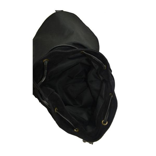 Černý kožený batoh Georgia