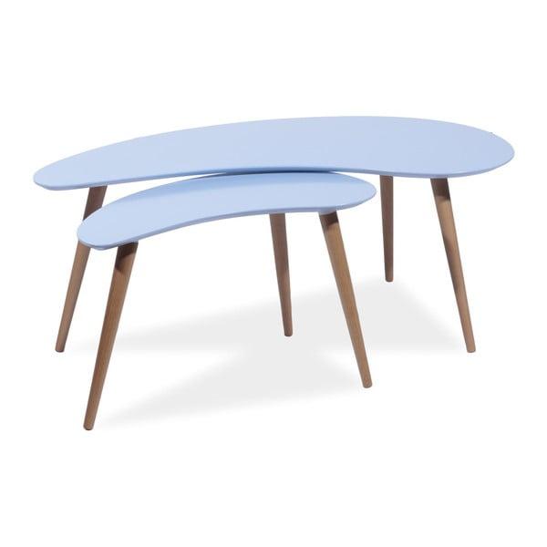 Sada 2 konferenčných stolíkov Sven, modrá