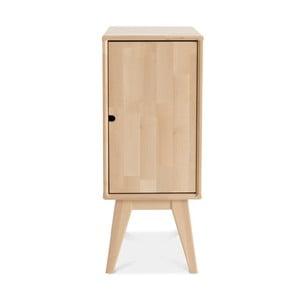 Ručne vyrobený nočný stolík zmasívneho brezového dreva KiteenNotte