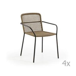 Sada 4 hnedých záhradných stoličiek La Forma Boomer
