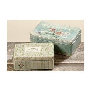 Sada 2 dekoratívnych krabičiek Fleur
