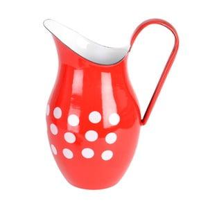 Červený smaltovaný džbán Orion Belly, 2,5 l