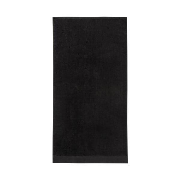 Čierna osuška Seahorse Pure, 70 x 140 cm