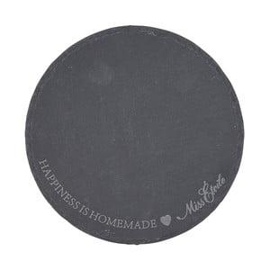 Bridlicová doštička Miss Étoile, ø 16 cm