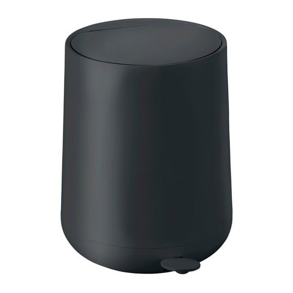 Čierny pedálový odpadkový kôš Zone Nova, 5 l