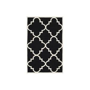 Vlnený koberec Alameda 121x182 cm, čierny