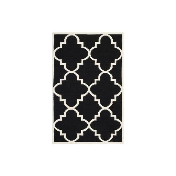 Vlnený koberec Alameda 182x274 cm, čierny