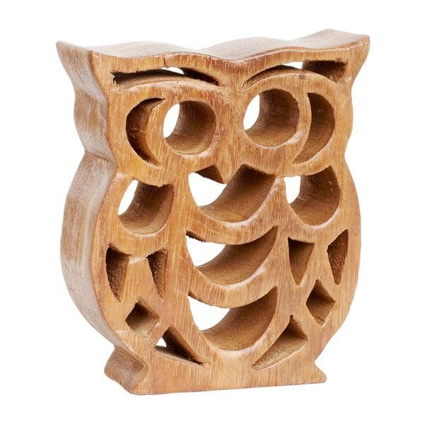 Dekoratívna drevená soška Hübsch Owl