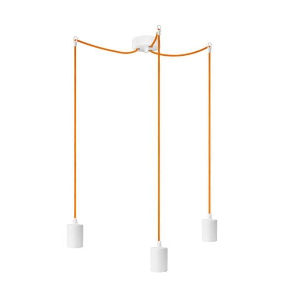 Tri závesné káble Bulb Attack Cero, oranžová/biela