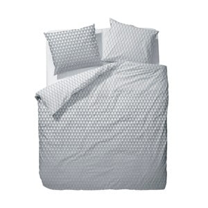Sivo-biele obliečky Esprit Mina, 135x200cm