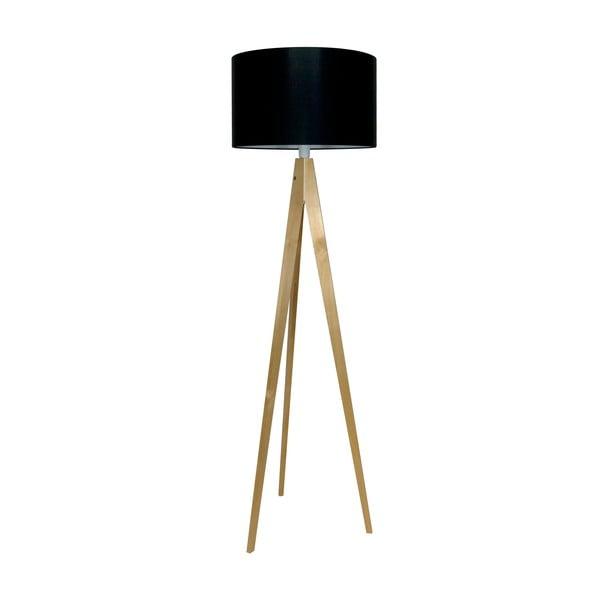 Stojacia lampa Artist Black/Birch, 150x42 cm