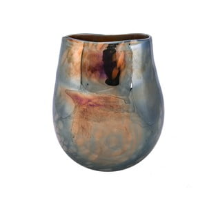Sklenená váza s perlovým vzhľadom Dino Bianchi Latina, výška 23