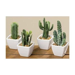 Sada 4 dekoratívnych kaktusov s kvetináčom Boltze Cactus