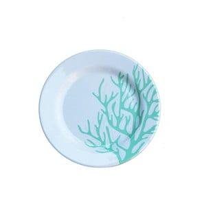 Sada 6 melamínových tanierikov Sunvibes Corail Bleu, ⌀ 20 cm