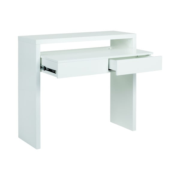 Pracovný stôl s výsuvnou doskou Console Mel