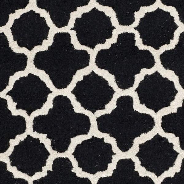 Vlnený koberec Bessa Black, 152x243 cm