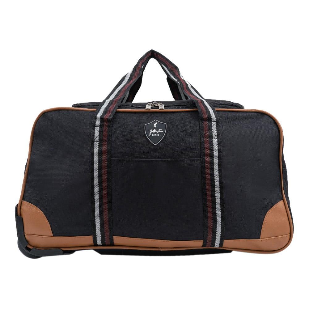 86637f002c Čierna cestovná taška na kolieskach GENTLEMAN FARMER Sydney