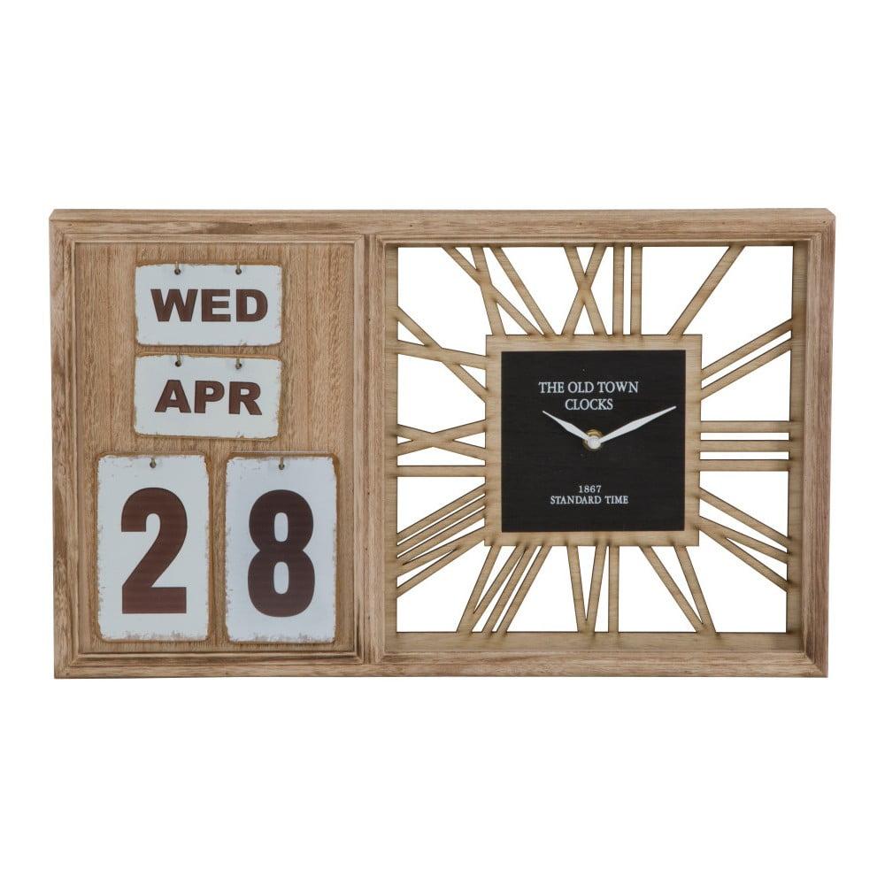 Stolové hodiny s kalendárom Mauro Ferretti Travel Day, 50 × 30 cm