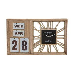 Stolové hodiny s kalendárom Mauro Ferretti Travel Day, 50 x 30 cm