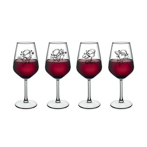 Sada 4 pohárov na víno Vivas Little Angels, 345 cm