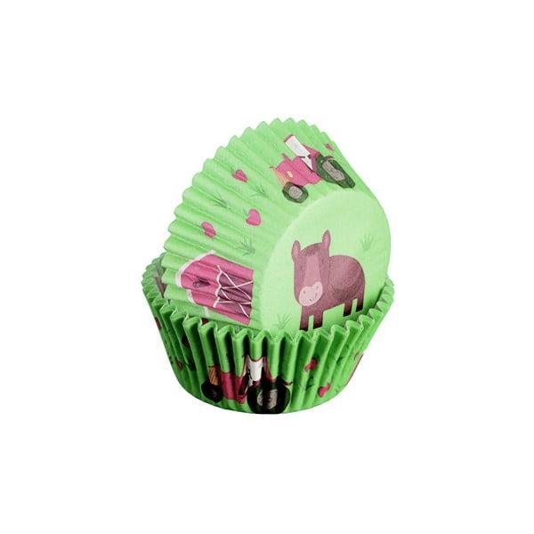 Sada 75 formičiek na cupcakes Farma