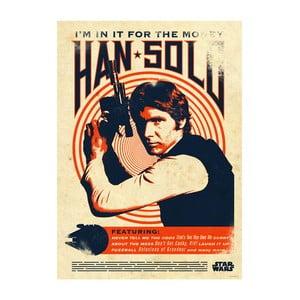 Nástenná ceduľa Star Wars Legends - Han Solo