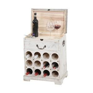 Biely stojan na 12 fliaš vína Mendler Shabby