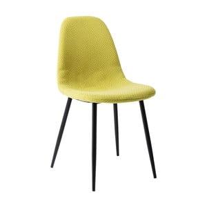 Žltá jedálenská stolička Kare Design Capri Lime